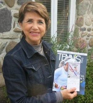 Diane Bédard, gagnante d'une paire de billets pour la Coupe Rogers